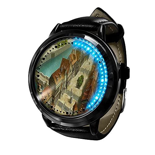 Attack on Titan Reloj Inteligente con LED Pantalla táctil Reloj de Pulsera para Niños y Niñas El Reloj de Niños Reloj con Dibujos Animados Bonitos de 205D a Prueba de Agua Regalo para Niños y Niñas
