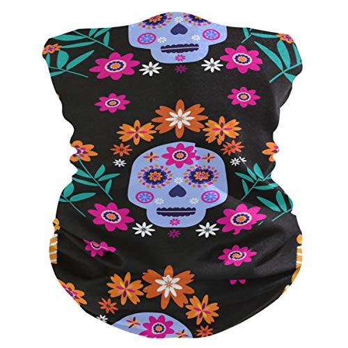 JUMBEAR - Pasamontañas para el cuello y la máscara de cráneo, polaina, multifuncional, transpirable, mágico, esqueleto, bufanda, diadema, antipolvo, viento, protección UV, para hombres y mujeres, deportes al aire libre