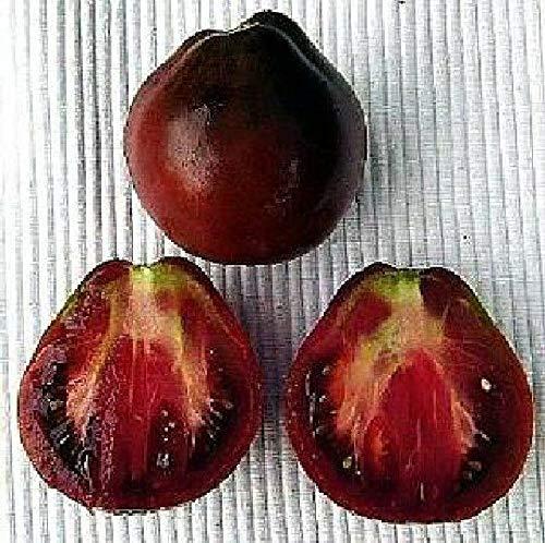 """SANHOC Samen-Paket: Russian """"Black Pear"""" Tomatensamen Ungewöhnliche Schwarze Früchte Birnen-Form"""