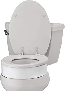 NOVA Toilet Seat Riser, Raised Toilet Seat (For Under Seat), For Elongated Toilet Seat