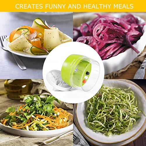 Product Image 7: Handheld Spiralizer Vegetable Slicer, Adoric 4 in 1 Heavy Duty Veggie Spiral Cutter – Zoodle Pasta Spaghetti Maker for Low Carb/Paleo/Gluten-Free Meals