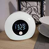 MxZas Allarme Luce Intelligente Sveglia, Sveglia Allarme Lampada Dormire aiuti con l'altoparlante...