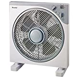 Bluesky BBF12-17 - Ventilador (Ventilador con aspas para el hogar, Gris, Blanco, Piso, Mesa, 1300 RPM, Botones, Giratorio, 1 h)