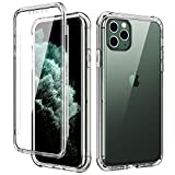 SKYLMW iPhone 11 Pro Case,[Built in Screen Protector] Full Body Shockproof Dual Layer High Impact Protective Hard Plastic & Soft TPU with Phone Cover Cases for iPhone 11 Pro 5.8 inch 2019,Clear