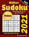 2021 Killer Sudoku: 365 Medium Puzzles for Every Day of the Year : Keep Your Brain Young (Game Calendars Series)
