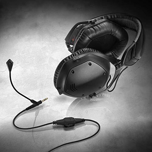Philips Fidelio Kopfhörer X2HR/00 Over-Ear Kopfhörer High-Resolution Audio (50-mm-Hochleistungs-Neodym-Treiber) schwarz & V-Moda BoomPro Mikrofon für Gaming & Sprachübertragung - Black