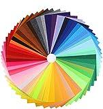 Qpout 60 Pezzi 4 x 4 Pollici 1 mm di Spessore Fogli di Stoffa di Feltro Artigianale colorato Tessuto di Feltro Pastello Patchwork Materiale Rigido Quadrati Non Tessuto Patchwork Cucito Artigianato