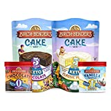 Birch Benders Keto Chocolate Cake Mix, Keto Classic Yellow Cake Mix (10.9oz) and Keto Vanilla...