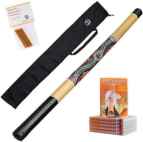 Starter Pack Australian Treasures Bamboo Didgeridoo natural Bag DvD Wax product image