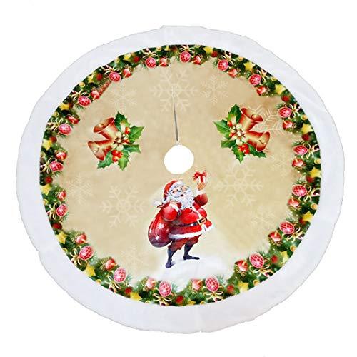 Xonor 99 cm Weihnachtsbaum Plüsch Rock Ornamente Schneemann Santa Rentier Dekoration für Zuhause Weihnachten Party Dekoration Santa Claus