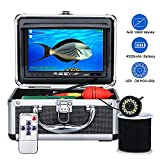 Underwater Fishing Camera,OKK 30 Adjustable IR and White LEDs with 7 inch 1080p HD IPS Colour Monitor Waterproof IP68 Underwater Viewing Fish Finder for Ice Fishing Lake, Boat, Sea, River(50ft/15M)