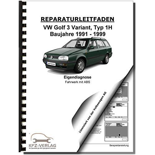 VW Golf 3 Variant (91-99) Eigendiagnose Fahrwerk Bremsen Reparaturanleitung