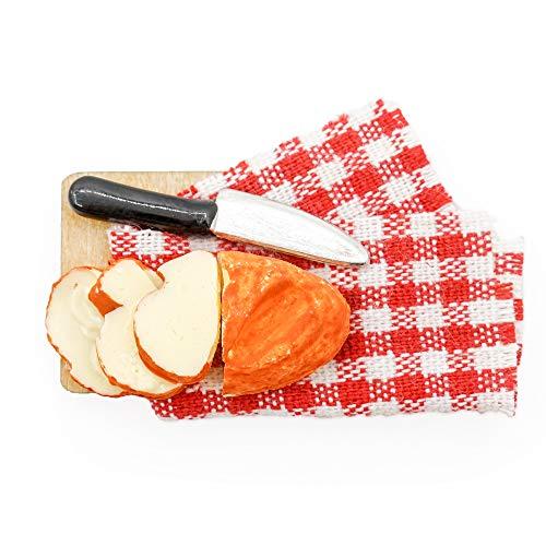 Odoria 1/12 Miniatuur Broodplank met Mes Poppenhuis Keuken Accessoires