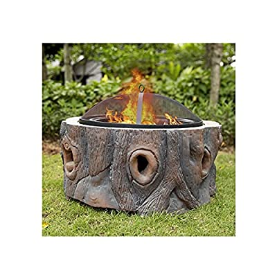 Fire Pit Outdoor Wood Burning fire Pit, Courtyard Barbecue fire Pit, Household Heating Heater, ice Pit, Garden Terrace Metal Brazier by Lijack