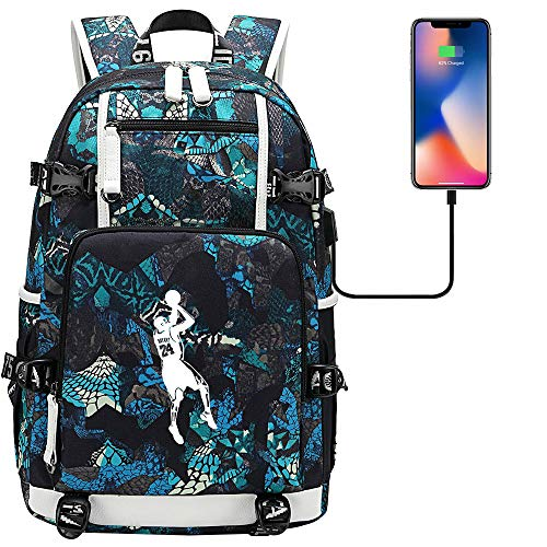 DDDWWW Sport Outdoor Hiking Backpack Basketball Star Kobe Bryant Backpack Multifunctional Waterproof School Bag Blue-A L S-1950