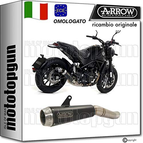 ARROW SCARICO OMOLOGATO PRO-RACE NICHROM NERO FONDELLO INOX COMPATIBILE CON BENELLI LEONCINO 500 2020 20