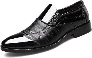 Dingziyue Uomo Business Dress Scarpe a Punta Uomo Scarpe A Pedale Moda Casual Lazy Shoes (Colore: Nero, Taglia : 46)
