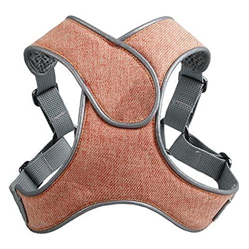 Arnés para perros Dog Harness Reflective Pet Harness for Small Medium Dogs Breathable Protective Dog Harness Vest Easy Control Arnés para gatos (Color : Orange, Size : L 61-71cm chest)