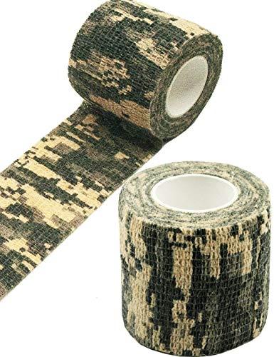 Outdoor Saxx® - Camouflage Tarn-Tape Hunting, Jagd, Gewebe-Band, Tarnung wasserfest mehrfach verwendbar, Kamera, Ausrüstung, Jäger, Angler, Fotografen, 4.5m