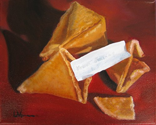 Good Fortune Cookies Original Oil Painting one of a kind on Canvas Wall Art