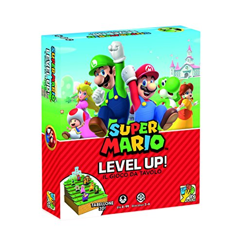 DV Giochi Level Up el Mundo de Super Mario - Juego de Mesa, Multicolor, DVG9340