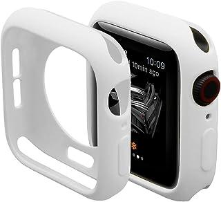 対応Apple Watch 1/2/3 42mm専用ケース アップルウォッチシリーズ 2 スクラブカバー シンプル シリコン材質 擦り傷防止 防衝撃 Apple Watch 1 保護カバー(ホワイト 42mm)