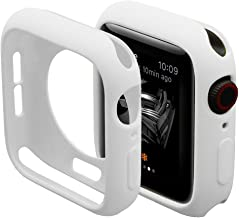 Hontao Ultra Thin Soft TPU Shockproof Built in Bumper Protector for iWatch Case Series 3/2/1 White 42mm