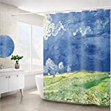 NOBRAND Cortina de Ducha Nordic Van Gogh Pintura al óleo Set partición del Inodoro Engrosamiento MÁQUINA Lavable Bañera Dormitorio 180 * 200cm