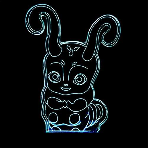 baby Q LED 3D Illusion Lampe, Lumières tactiles colorées, Lampe visuelle créatrice Acrylique, lumières actionnées par USB