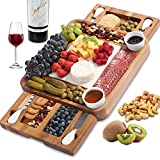ABELL Cheese Board and Knife Set, Acacia Charcuterie Boards Platter...