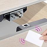 ALLWIN INC - Cerradura electrónica para armario, cajón, zapatero con entrada de tarjeta RFID, para armario, cajón de madera