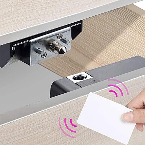 Allwin Inc - Serratura elettronica per armadietto e scheda, kit fai da te nascosto per armadietti in legno, cassetti, scarpiera con porta RFID