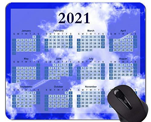 2021 Kalender Golden Premium Mauspad Personalisierte, Blaue Himmel und weiße Wolken Mauspads