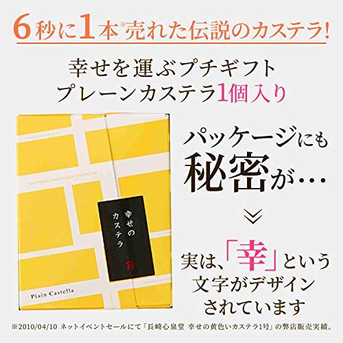 長崎心泉堂プチギフト幸せの黄色いカステラ個包装10個入り(1個あたり38g)