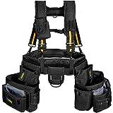 Bravex Tool Belt Suspenders Tool Vest Ultra Anti-Wear Tool Belt 21-Pocket Pro Framer's Combo Apron Tool Belt and Yoke-style Suspenders-1200D Tool Belts for Men Roofing Tools