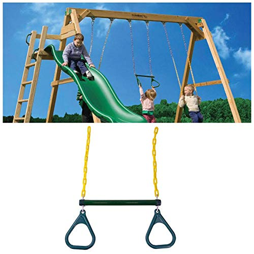 N/Y Metal Swing Gymnastic Rings Children Trapeze Bar Pull Up Gym Rings Ring for Kids Boys Girls Playground Outdoor Indoor Game -160 kg Load-Bearing.