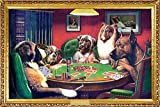 Laminated Dogs Playing Poker Kelly Poster Print 24x36
