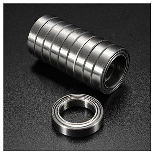 RETYLY 10 StüCk Miniatur Versiegelte Metallgeschirmte Metrische Radialkugellager Modell: 6701 ZZ 12X18X4MM
