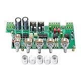 Wnuanjun 1pc 2.1 Subwoofer Preamplificador NE5532 Tablero de Control de Tono de preamplificador 3 Canal TL072 Ajuste de bajo LOBLE