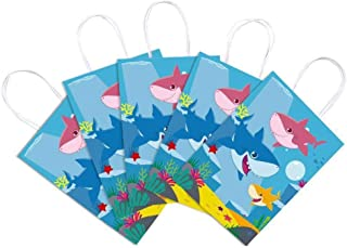 24 Piece Party Supplies Shark Baby Back Gift Bag Child Birthday Party Theme Paper Bag Shark Baby Gift Bag Candy Tote Baby ...