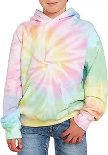 GAMISOTE Unisex Kids Tie Dye Sshshshirt Boys Girls Hooded Hanged Kangaroo Pocket Pullover Hoodies