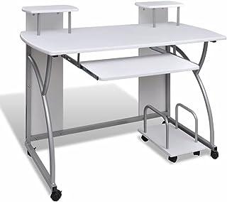 Escritorio Computadora Blanco, escritorios juveniles para estudios, 120 x 60 cma Ordenador Portátil