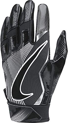 Men's Nike Vapor Jet 4 Football Gloves Black/Wolf Grey Size X-Large