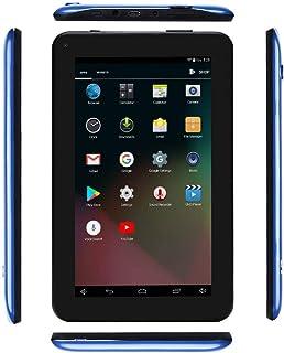 Haehne 7 Inches Tablet PC - Google Android 6.0 Quad Core, 1024 x 600 Screen, 2.0MP 0.3MP Dual Camera, 1G RAM 16GB ROM, 2800mAh, WiFi, Bluetooth (Blue)