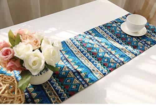 Coner Tafelloper Katoen en linnen Bloem Nepal Stijl Tafelkleed Dressoir Sjaals Keuken Diner Feestdagen Bruiloftsevenementen, 180 30cm