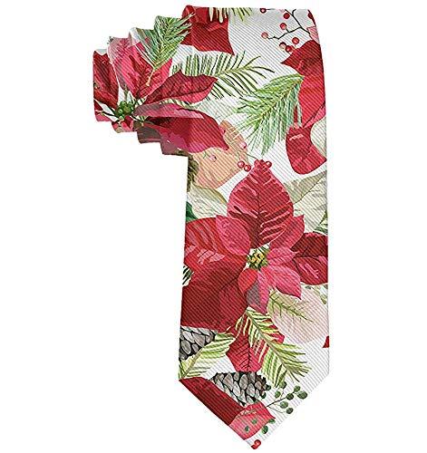 Mode Weihnachtsstern Blumen Nahtlose Männer 'S Krawatte Neuheit Geschenk Für Hochzeit Schule Krawatte