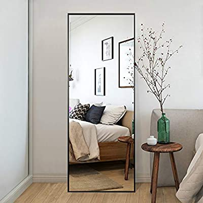 """Trvone Full Length Mirror Floor Mirror, Large Rectangle Bedroom Mirror Dressing Mirror Wall-Mounted Mirror, Standing Hanging or Leaning Against Wall, 65""""x22"""""""