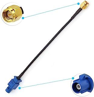 Eightwood Adaptador de Antena GPS Fakra C a Conector SMA Piggear Cable RG174 15 cm 6 Pulgadas para el automóvil Módulo GPS...