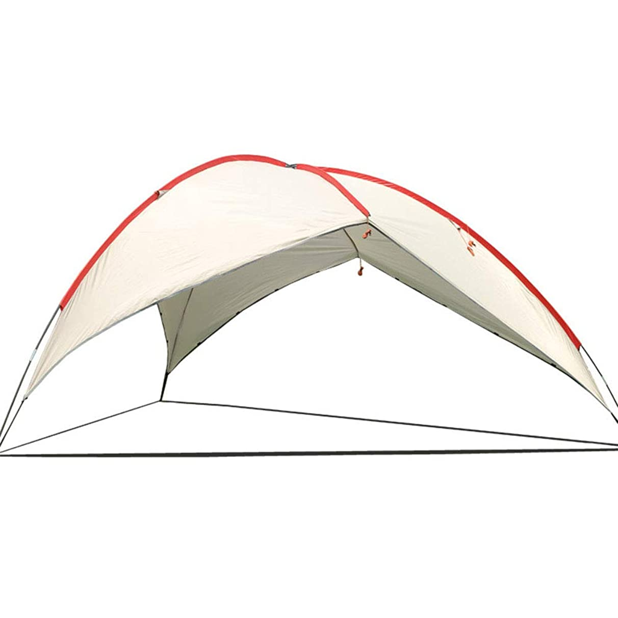 WE&ZHE Outdoor Multi-Person Tent Shade Canopy, Beach Canopy Barbecue Shed Triangle Canopy, Slant Leg Instant Canopy with Wall Panel and Backpack,B