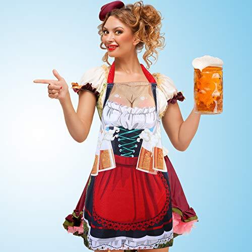 Blulu Oktoberfest Dekorationen, Deutsch Oktoberfest Schürze Küchen Schürze für Bayerische Oktoberfest Party Lieferungen